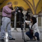 Taghikhani, the cameraman for Women of the Silk Road