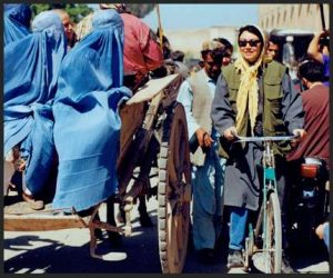 Afghanistan, riding a bicycle!